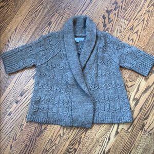 Ann taylor loft wool cable knit sweater medium